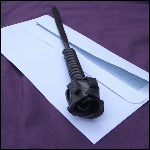 Rose design metal letter opener